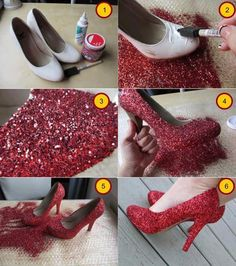 Great for shoes at goodwill. Great project sometime. Step by Step Tutorial