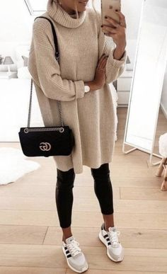 Girls Fall Outfits, Warm Outfits, Casual Fall Outfits, Winter Fashion Outfits, Mode Outfits, Sweater Fashion, Autumn Winter Fashion, Spring Outfits, Trendy Outfits