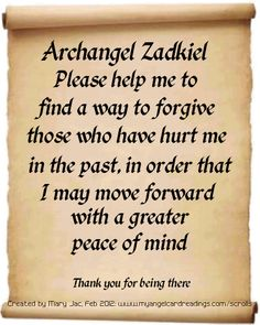 Archangel Zadkiel...