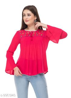 Tops & Tunics SAAKAA Women's Rayon Pink Embroidery Top Fabric: Cotton Pattern: Embroidered Multipack: 1 Sizes: S XL XS L M XXL Country of Origin: India Sizes Available: XS, S, M, L, XL, XXL   Catalog Rating: ★4.2 (847)  Catalog Name: Stylish Fabulous Women Tops & Tunics CatalogID_1777086 C79-SC1020 Code: 633-9961240-018