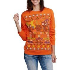 Women's Celebrate the Season Halloween Graphic Sweatshirt, Size: Small