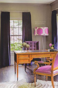 Hues Of Purple Pink And Browns Purple Interior Bright Decor European Home Decor
