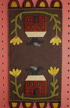 wool house & flower mat