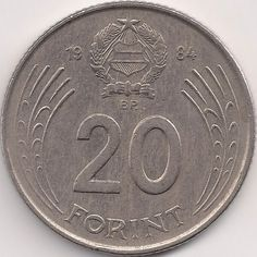 Wertseite: Münze-Europa-Mitteleuropa-Ungarn-Forint-20.00-1982-1989 Hungary History, Old Money, Coin Collecting, Old Photos, Coins, Pictures, Hungary, Europe, Old Pictures
