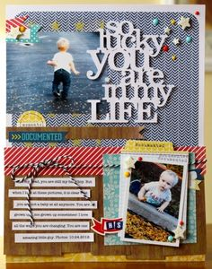 'so lucky you are in my Life'...Elle's Studio / great  recipe to showcase those loved ones in our life