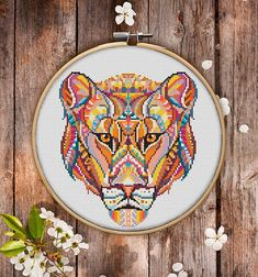 This is modern cross-stitch pattern of Mandala Lioness for instant download. You will get 7-pages PDF file, which includes: - main picture for your reference; - colorful scheme for cross-stitch; - list of DMC thread colors (instruction and key section); - list of calculated
