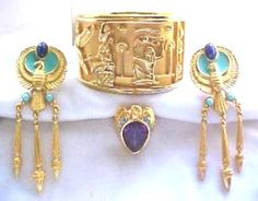 Elizabeth Taylor for Avon 1993 Egyptian Revival Jewelry