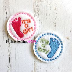 It's a Boy/Girl Digital Feltie Embroidery by EmbroiderThatNow
