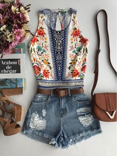 Cute Comfy Outfits, Cute Summer Outfits, Cool Outfits, Summer Shorts, Outfit Pinterest, Look Fashion, Womens Fashion, Summer Fashion Outfits, Look Chic