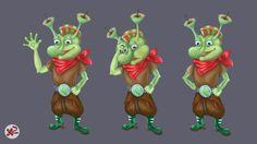 Game character, alian Gam IV, Xenia Zagorodny on ArtStation at https://www.artstation.com/artwork/game-character-alian-gam-iv