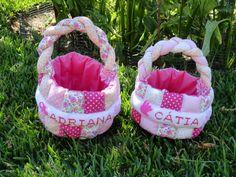 Fada Mimos:  Duas cestinhas para arrumar os produtos dos bebes...