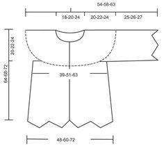 Crochet DROPS jacket with zig-zag pattern in 2 strands