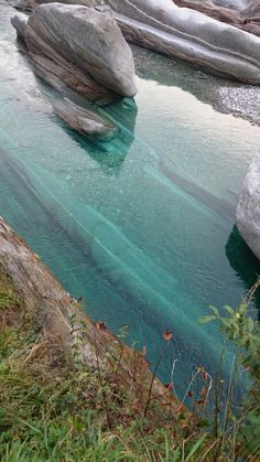 The emerald river in Verzasca Valley
