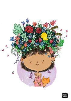 3d23efa0 A cat by your side and flowers in your hair. What could be better?