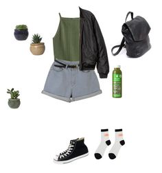 🌿 by leansshawty on Polyvore featuring polyvore, fashion, style, H&M, Converse and clothing