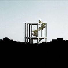 Beniamino Servino. Belvedere Monumentale in Paesaggio anonimo. Monumental Belvedere in Anonymous Landscape.