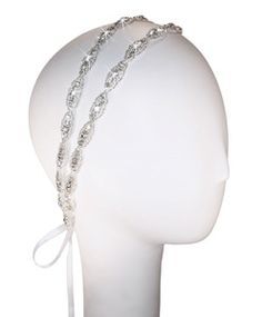 One of our best selling headbands! Two strands of simple yet chic embellished ovals compliment wedding