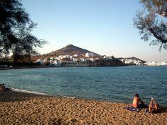 Relaxing on the beach, Paros island