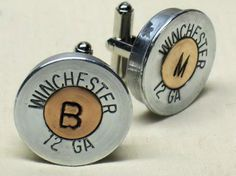 Shotgun Shell Monogram Cufflinks- I need to make these for Craig, when Dana and him get married!