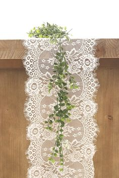 Soft White Lace Table Runner/14x120 Inch Table
