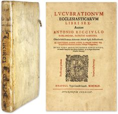 Lucubrationum Ecclesiasticarum Libri Sex; Vidilicet de Cultu.. | Antonio Ricciullo
