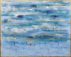 """""""Grant me the serenity to accept the things I cannot change, the courage to change the things I can, and the wisdom to know the difference. """"  There is something so serene about blue and this painting! It was more challenging to go in a softer direction than strong color, since I was working with such a limited palette, but it was finally achieved and I approved;). Almost like the heavens being accessible to our prayers through this """"water"""".  Praying at the Kotel, blue oil painting."""