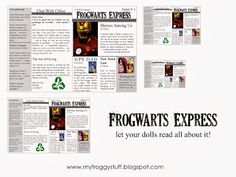 My Froggy Stuff: Frogwarts Express : A Doll School Newspaper