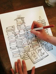 新たな可愛いデザインを発見♡海外風ゲストブックのアイディアまとめ*にて紹介している画像