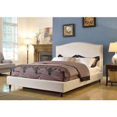 Shop for ABBYSON LIVING Roxbury Ivory Linen Platform Upholstered Bed. Get free…