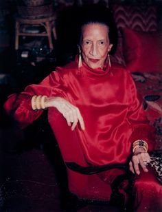 Diana Vreeland what an amazing woman, I was fortunate enough to work at Vogue when she was Editor in Chief