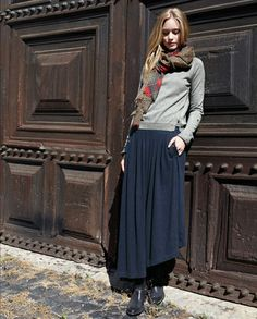 Esme Skirt - Wrap - In our heavier weight hemp cotton jersey c8567387127