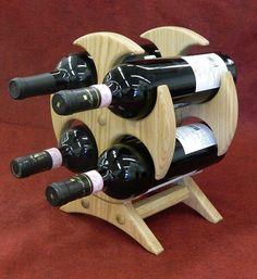 ideas home bar cabinet diy wine fridge Oak Wine Rack, Wood Wine Racks, Wine Glass Rack, Wine Shelves, Wine Storage, Wood Projects, Woodworking Projects, Wine Rack Design, Home Bar Cabinet
