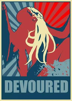 Yes, we can (be devoured) Lovecraft Cthulhu, Hp Lovecraft, Call Of Cthulhu Rpg, Lovecraftian Horror, Lord, Cultura Pop, Tentacle, Spirit Animal, Old Things
