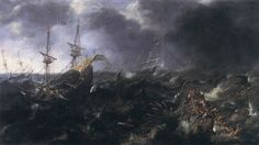 Andries van Eertvelt - Ships in Peril - WGA7475 - Category:Paintings of ships in distress - Wikimedia Commons