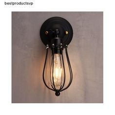 #Ebay #Indoor #Wall #Lighting #Sconce #Black #Vintage #Light #Fixture #Metal #Industrial #Mount  #OakLeaf #Traditional