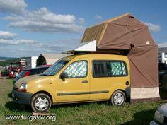 Billedresultat for kangoo camper Tiny Camper, Car Camper, Camper Life, Camper Van, Tiny Trailers, Camper Trailers, Motor Home Camping, Berlingo Camper, Ford Transit Connect Camper