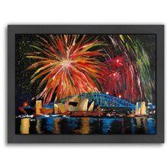Americanflat 'Sydney Silvester' by M Bleichner Framed Original Painting Size: