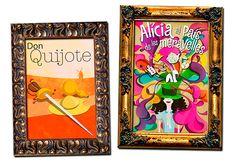 Carteles para publico infantil: Don Quijote y Alícia al país de les meravelles