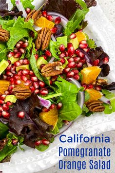 When you want a salad that looks and tastes amazing, make my California orange pomegranate salad with avocado and pecans.