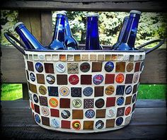 Beer bucket I want to make with Bottle caps Mais