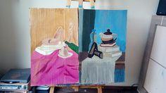 Femininity/ paint on cardboard/ acrilic painting/ set of 2 /
