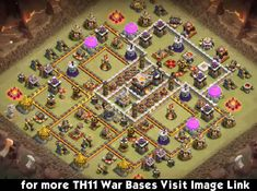 Excellent TH11 War Base Anti Bowlers and Queen  Charge
