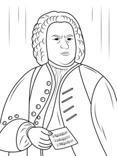 click to see printable version of johann sebastian bach coloring page
