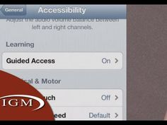 Great info on Guided Access feature in iOS6 - perfect for using in stations with students you want on one app.
