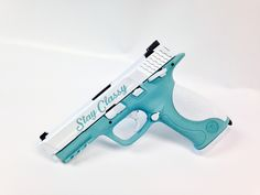 Smith & Wesson M&P .40 pistol...love that classic Tiffany blue!
