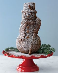 Nordic Ware Snowman Cake Pan #williamssonoma.    My cake pan collection needs this