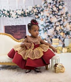 Christmas may be over but we are not over how cute she is!!!! Wearing our Charlotte Dress in burgundy  Shop: ittybittytoes.comittybittytoes