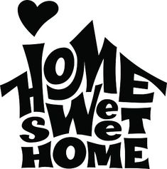 Home sweet home. Vector lettring with house shape. Free Vector Graphics, Free Vector Art, Cricut Heat Transfer Vinyl, House Vector, Script Writing, Silhouette Clip Art, Book Folding Patterns, Cut Image, Custom Tumblers