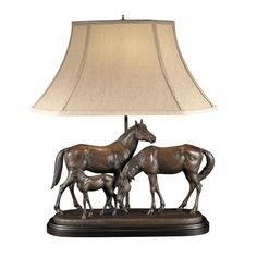 Horse Family Lamp and Sculpture