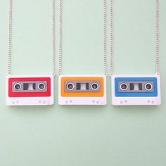 Mix Tape Necklace Or Brooch - pins & brooches